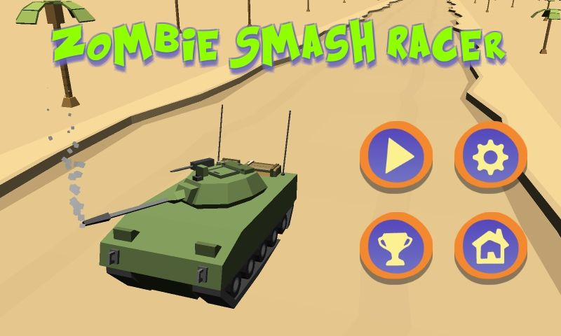 Zombie Smash Racer Unity Project Screenshot 1