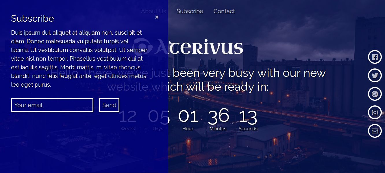 Aterivus Coming Soon Template