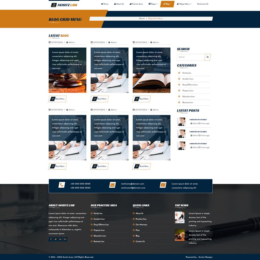 Avisitz Law - Lawyer HTML5 Template Screenshot 5