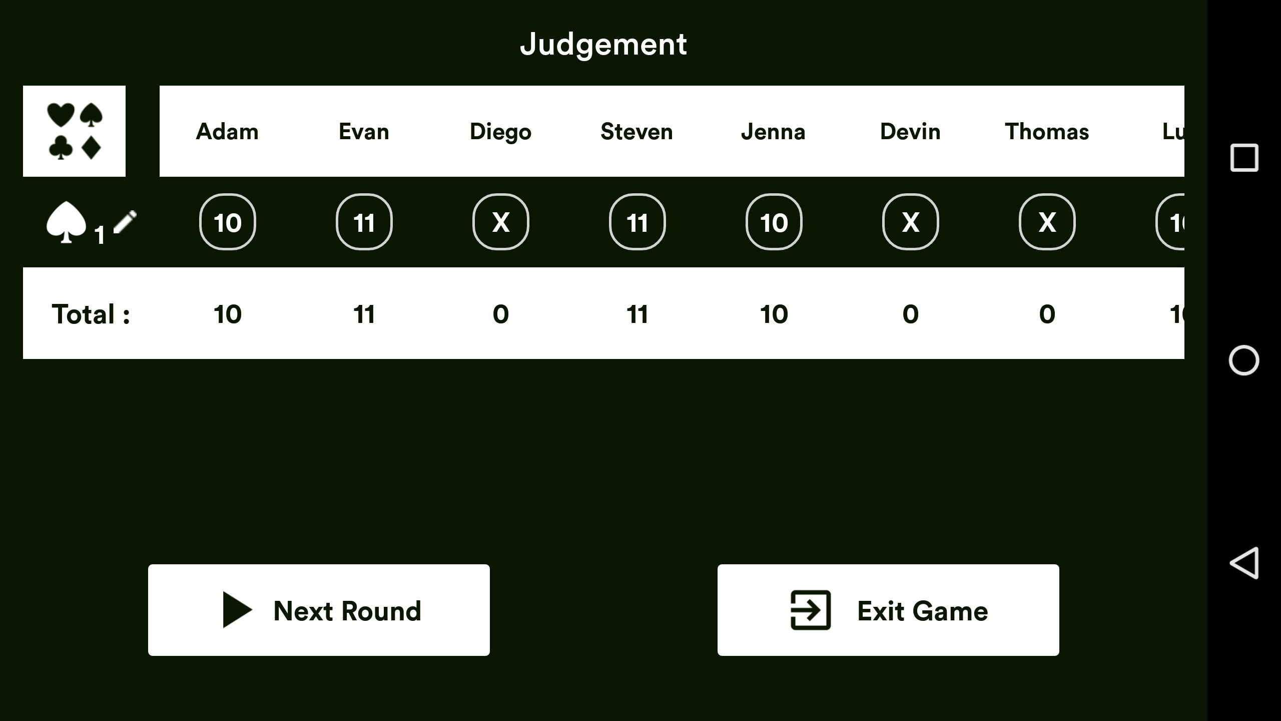 Judgement Android Source Code Screenshot 4