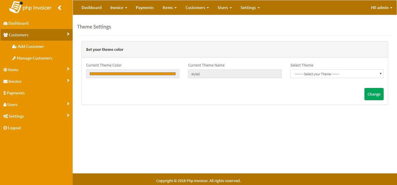 PHP Invoicer - Simple Invoicing Tool Screenshot 12