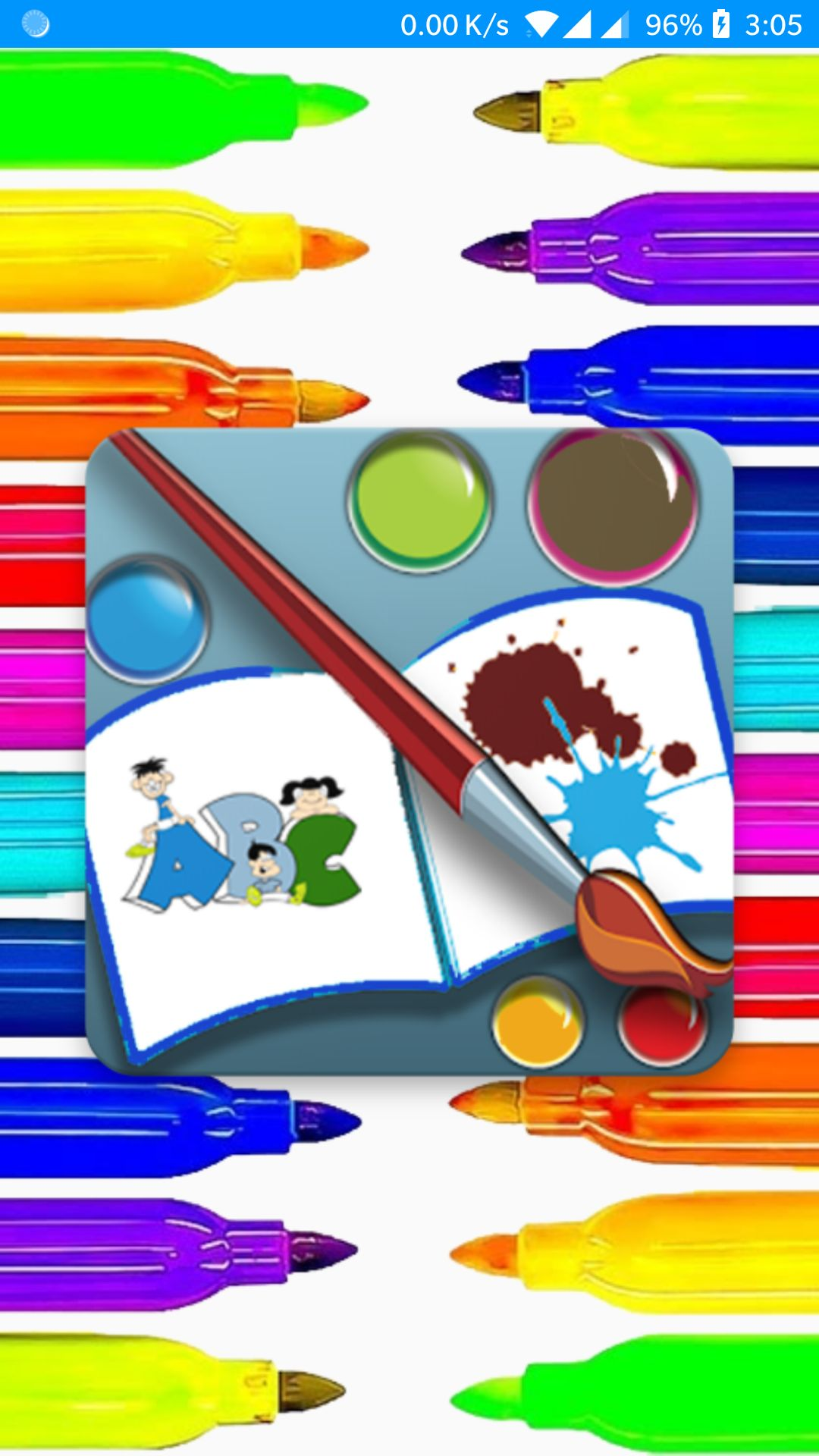 Kids Coloring Book Android Source Code Screenshot 1