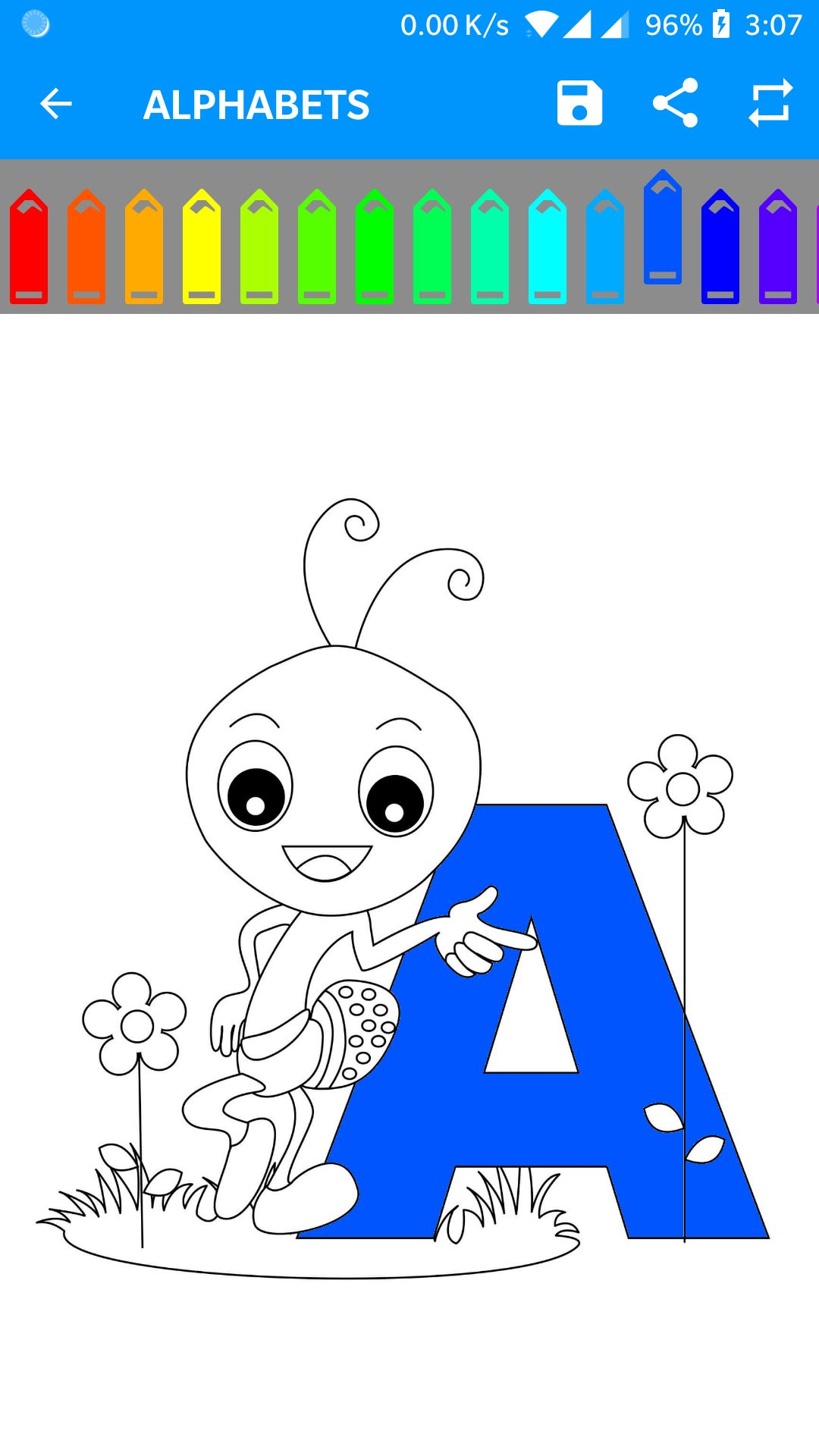 Kids Coloring Book Android Source Code Screenshot 4