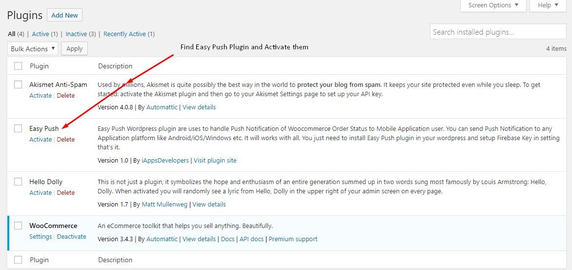 Easy Push Notification WooCommerce Plugin Screenshot 2