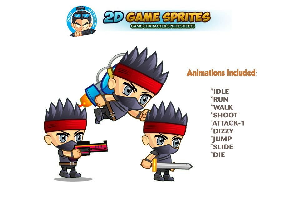 Pirate 2D Game Character Sprites Screenshot 1