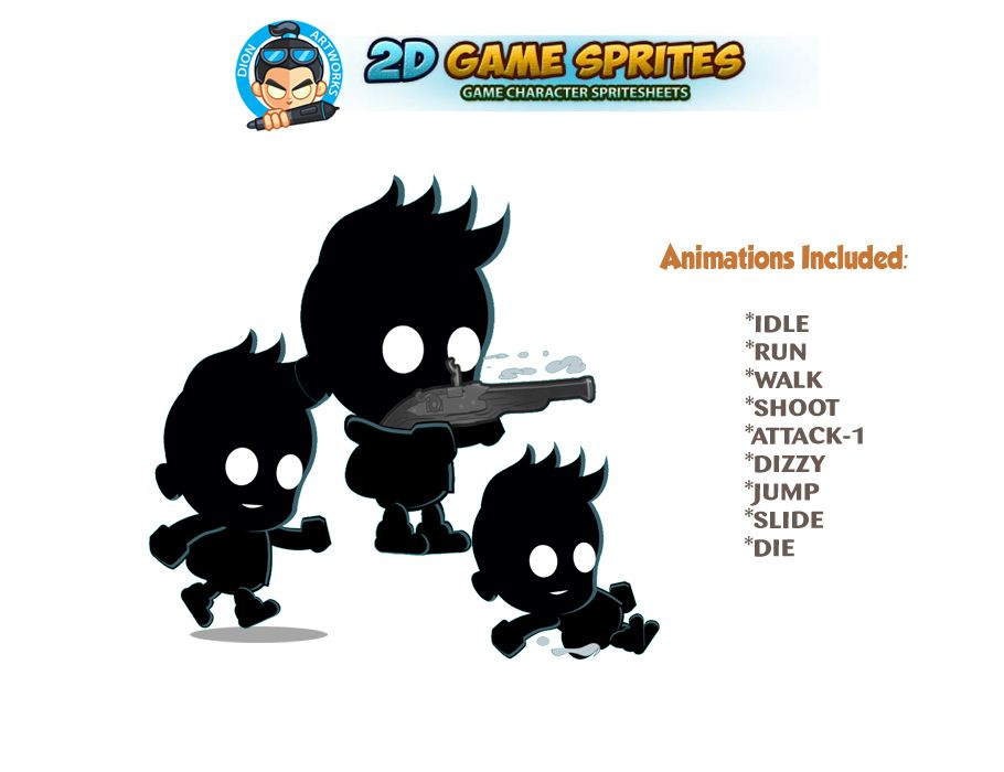Shadow kid 2D Game Character Sprites Screenshot 1