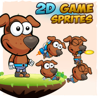 Dogie 2D Game Character Sprites
