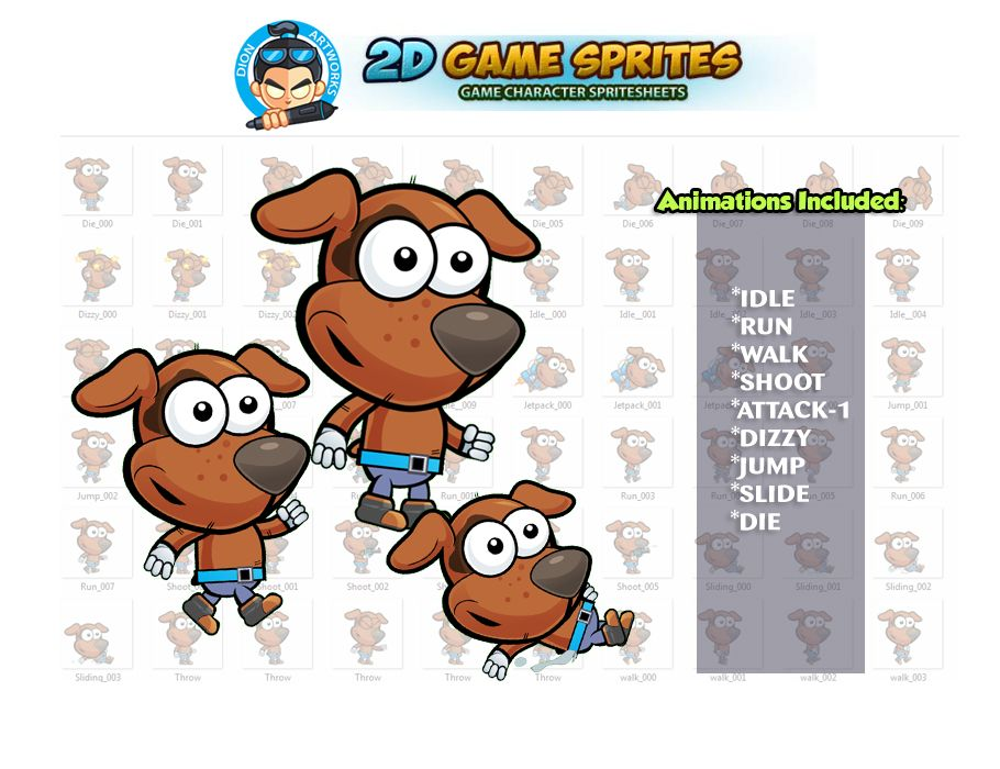 Dogie 2D Game Character Sprites Screenshot 1