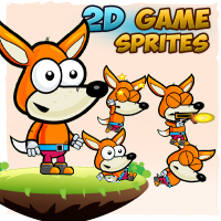 Fox 2D Game Character Sprites