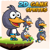 Penguin Game Character Sprites
