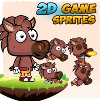 Horse 2D Game Character Sprites