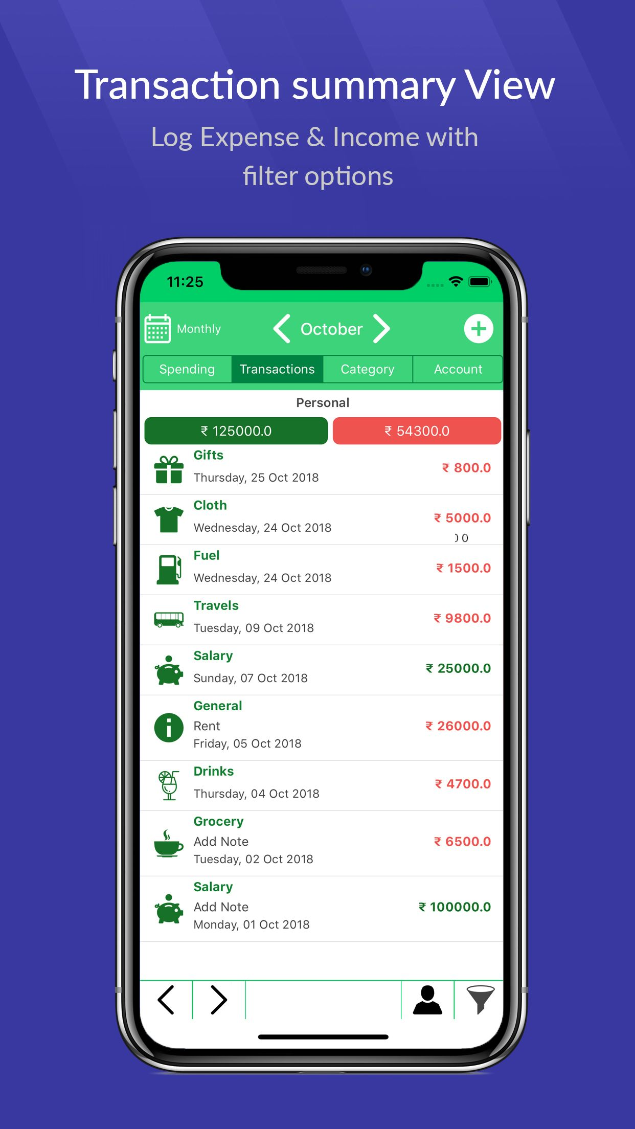 iMoney - Money Manager iOS Screenshot 2
