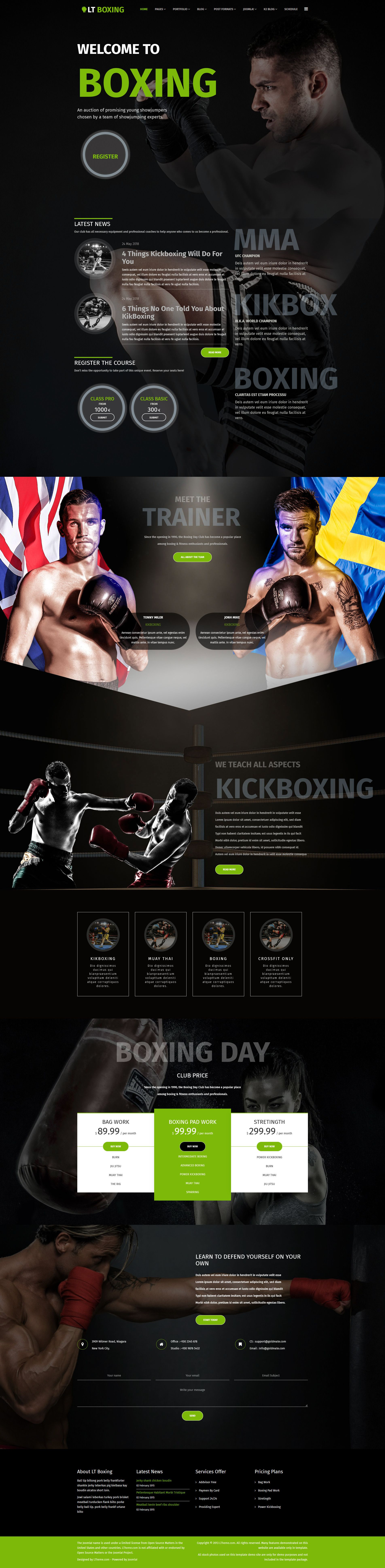 LT Boxing - Premium Joomla Sport Theme Screenshot 1