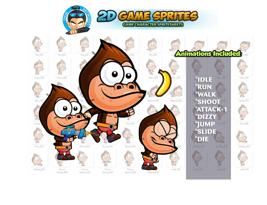 Gorilla Game Character Sprites Screenshot 1