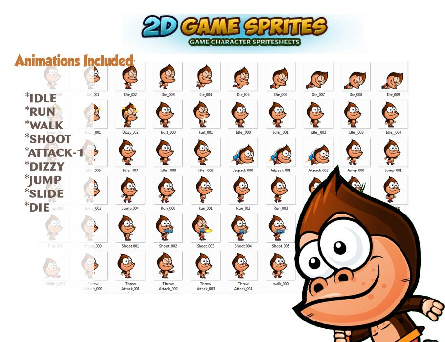 Gorilla Game Character Sprites Screenshot 2