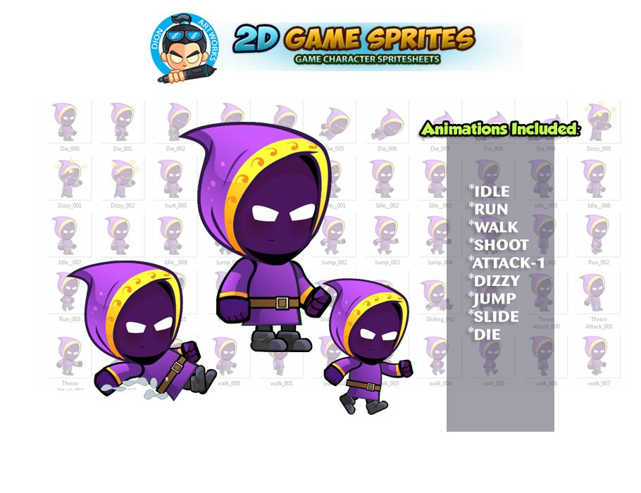 Mage Game Character Sprites Screenshot 1