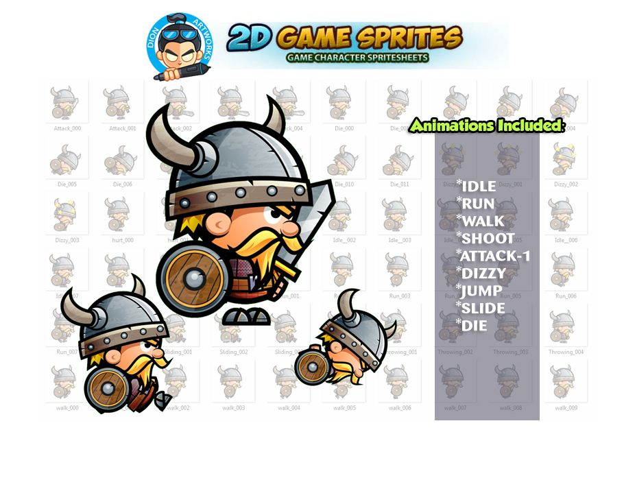 Viking 2D Game Character Sprites Screenshot 1