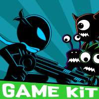 Ninja Shadow Silhouette - Themed Game Kit