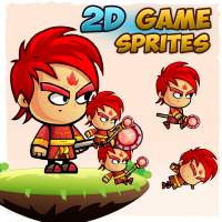 FireMage 2D Game Character Sprites