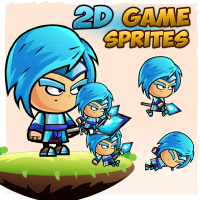 Ice Mage 2D Game Character Sprites