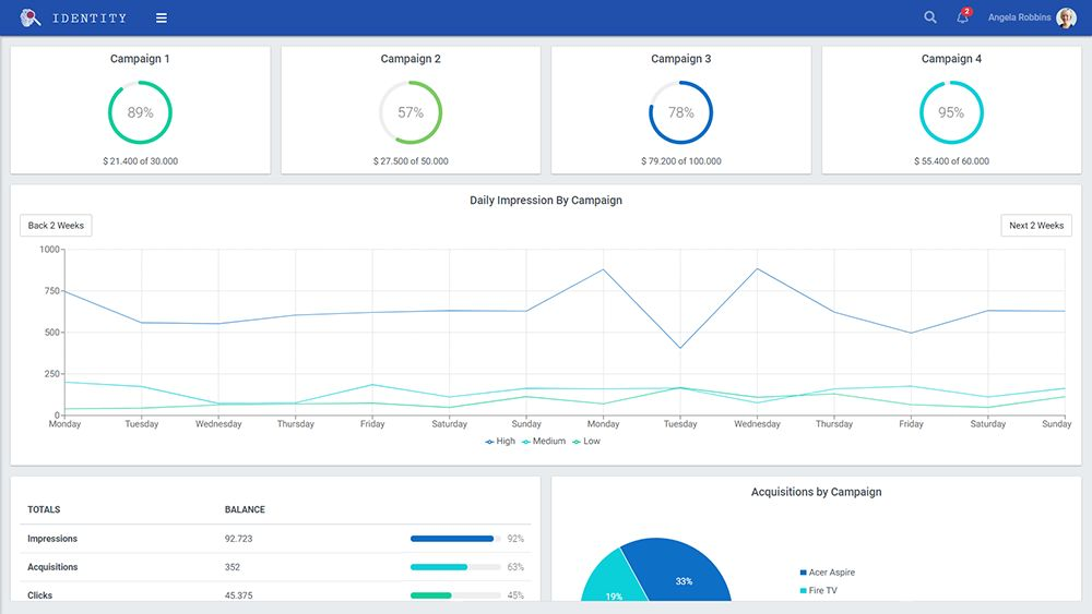 Identity - React Admin Template Screenshot 5