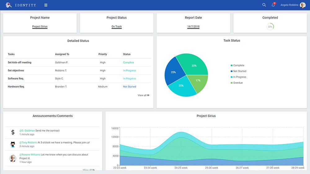 Identity - React Admin Template Screenshot 6