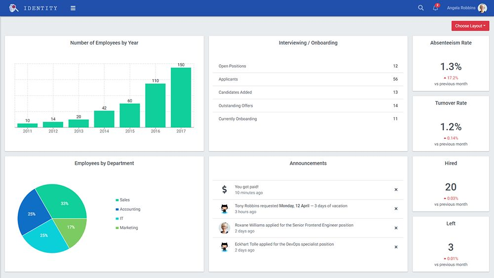 Identity - React Admin Template Screenshot 8