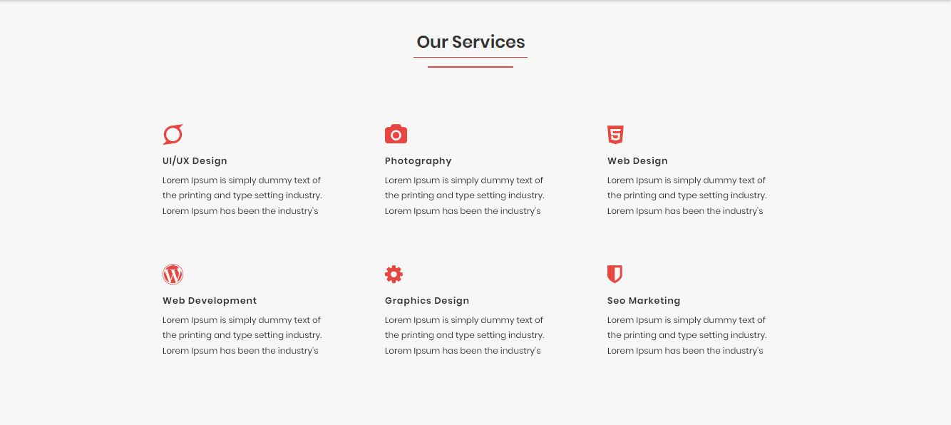 DULALI - One Page Multipurpose Template Screenshot 2