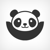 Happy Panda Logo