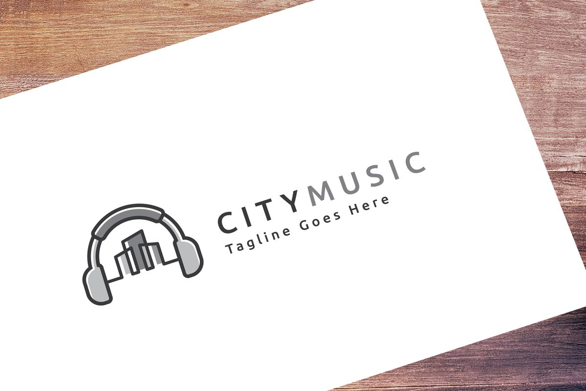 City Music Logo Template Screenshot 1