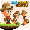 CowBoy 2D Game Character Sprites