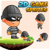 Robber 2D Game Character Sprites