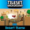 Desert 2D Tileset and Background