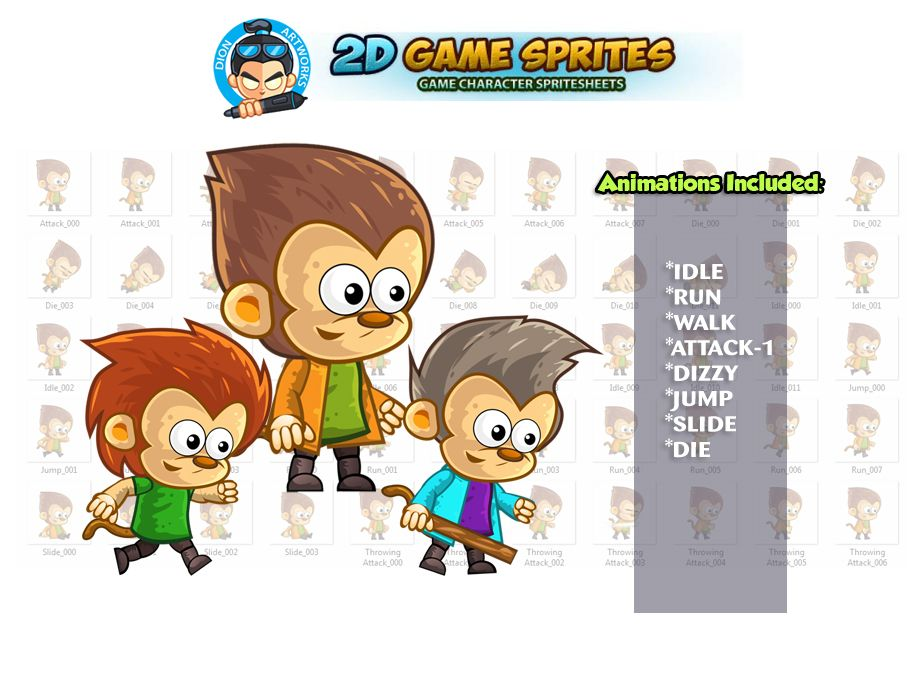 Monkey's 2D Game Character Sprites Screenshot 1