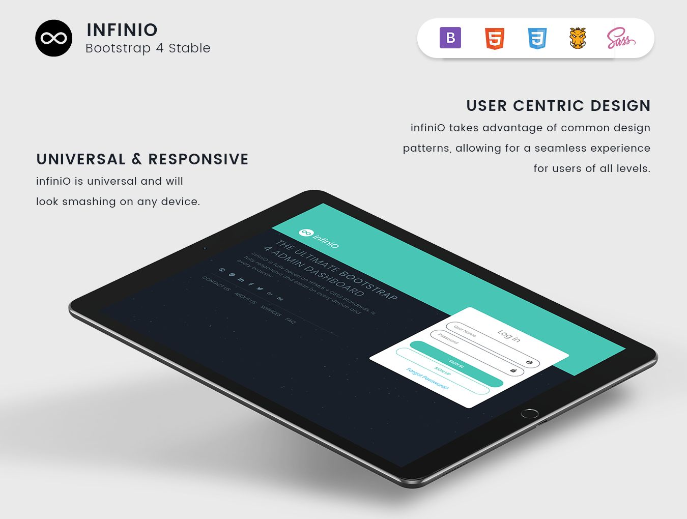 InfiniO - Bootstrap 4 Admin Dashboard Template  Screenshot 4