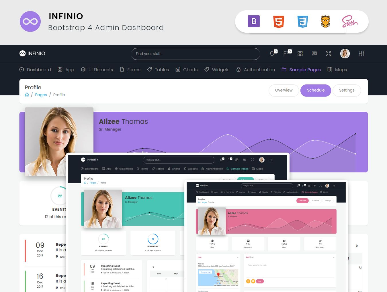 InfiniO - Bootstrap 4 Admin Dashboard Template  Screenshot 8