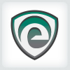 Letter E Shield Logo