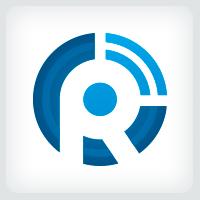 Letter R Signal Logo