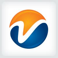 Letter V Sphere Logo