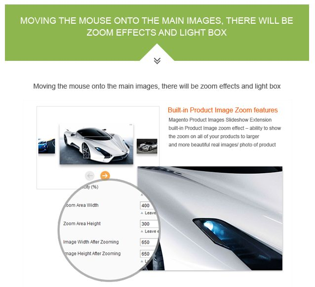Magento Product Images Slideshow Extension Screenshot 2