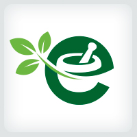 Mortar and Pestle - Letter E Logo