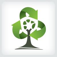 Recycling Arrows - Tree Logo