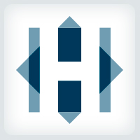 Overlapping Squares - Letter H Logo