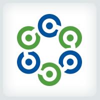 Circle Interconnecting Dots Logo
