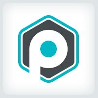 Hexagon Letter P Logo