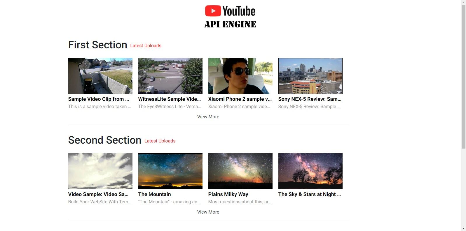 YouTube API Engine Screenshot 1