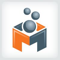 letter M - Molecule Logo