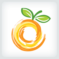 Orange Fusion - Fruit Logo