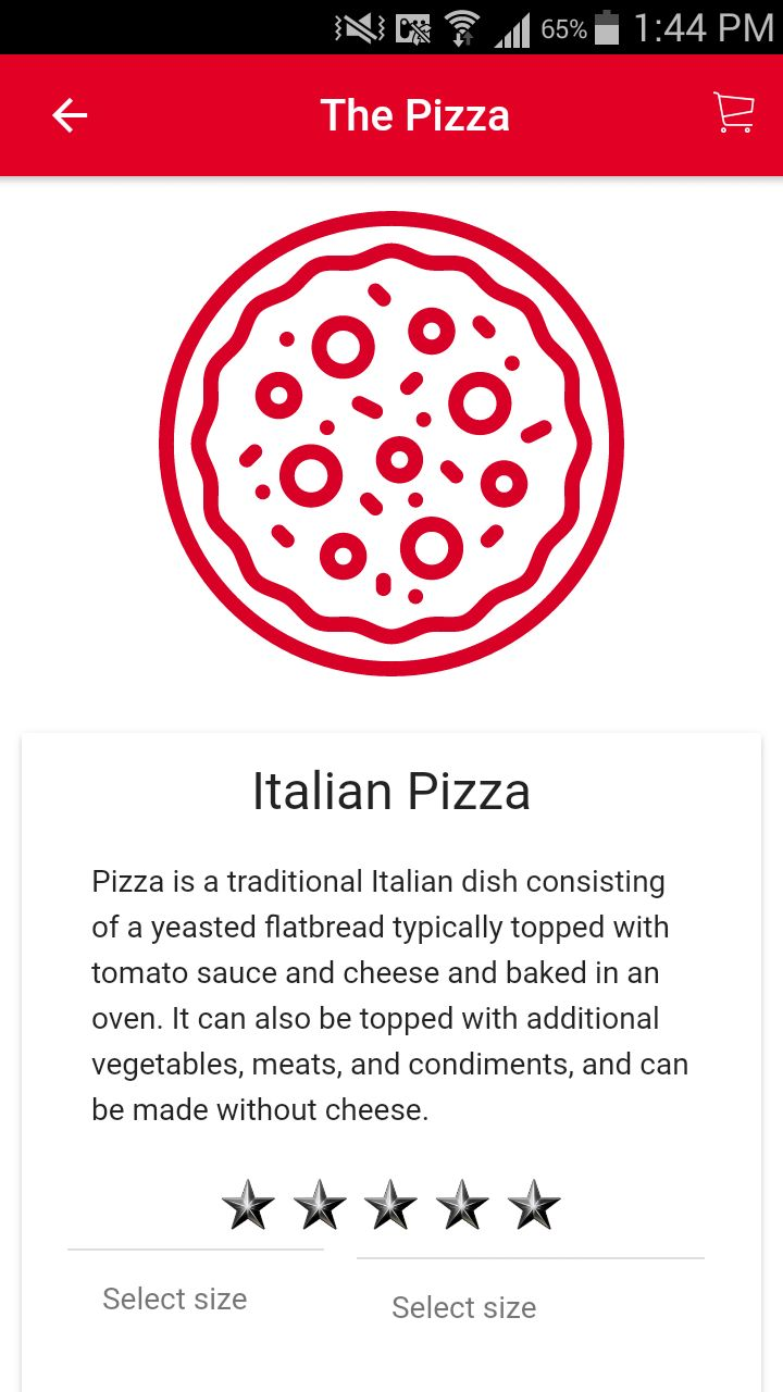 Ion Pizza - Ionic Pizza Delivery App UI Theme Screenshot 6