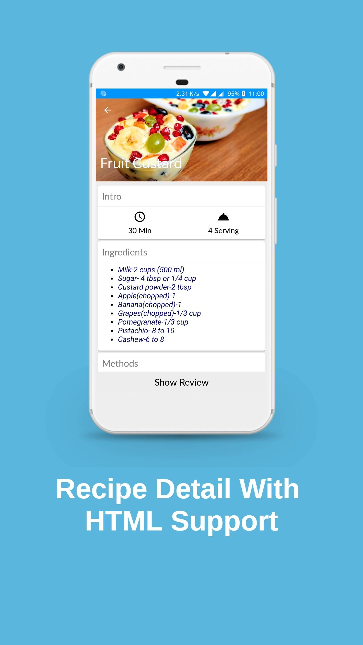 Recipes Book - Android Source Code Screenshot 5